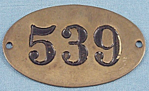 Brass Number Plate - 539