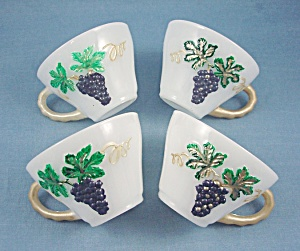 Hand Painted Punch Cups - Opaque - 4