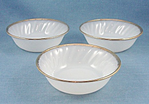 Fire King - Golden Shell - Dessert Bowls - Three