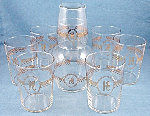 Monogrammed � H � Tumblers & Tumble-Up � Libbey Glass Co.	 (Image1)