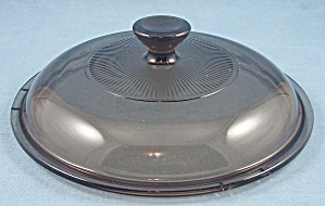 Pyrex V 15c, Glass Lid - Amber / Round / 6-5/8 Inches