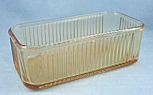 Replacement – Federal - Refrigerator / Container, Jar, Box - Ribbed Pattern, Amber (Image1)