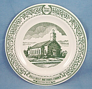 1943 Hillcrest Brethren Church Plate – Dayton, Ohio – Commemorative Plate (Image1)