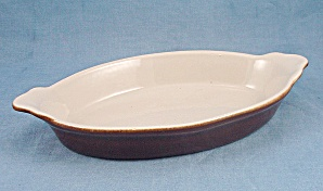 U.S.A. Small Brown & White Casserole (Image1)