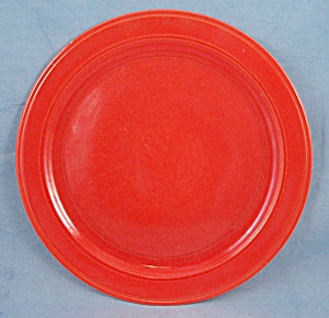 Vernon Kilns- Early California � Orange Plate � 1936-1946	 (Image1)