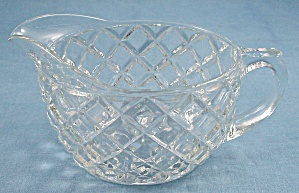 Depression Glass - Waterford- Waffle Cream Pitcher - Hocking Glass