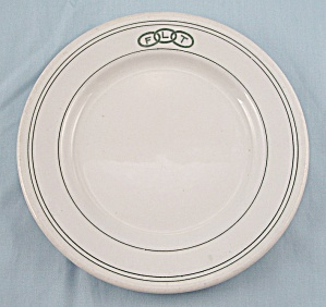 Avco China – F L T, Odd Fellows Plate - Restaurant Ware (Image1)