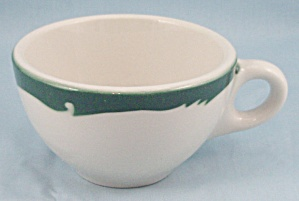 Syracuse - Wintergreen / Green Crest - Airbrushed, Cup - Restaurant Ware