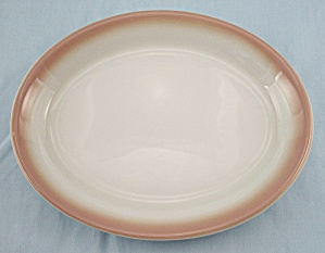 Shenango - Tan Airbrushed Edge - Platter - Restaurant Ware