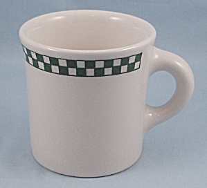 Homer Laughlin - Mug - Green Checker Board Square - Restaurant Ware