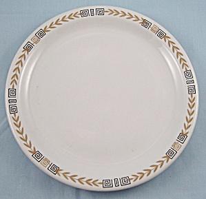 Shenango – Esquire /Gold Laurel, Black Key / Geometric Squares – Plate - Restaurant Ware (Image1)