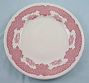 Shenango - Winchester - Red Lattice/ Fruit - 7-1/4 Inch Plate - Restaurant Ware