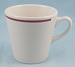 Homer Laughlin - Red/ Maroon Stripe - Cup/mug - Restaurant Ware