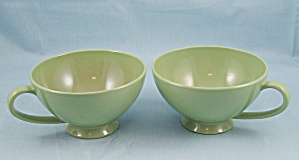 Texas Ware – Footed Cups (2)- Green / Avocado (Image1)