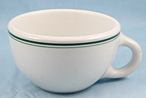 Shenango China - Coffee Cup - Green Lines,restaurant Ware