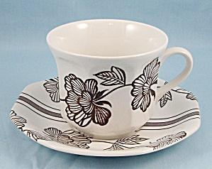 J & G Meakin -  Lotus –  Liberty Shape, Cup & Saucer (Image1)
