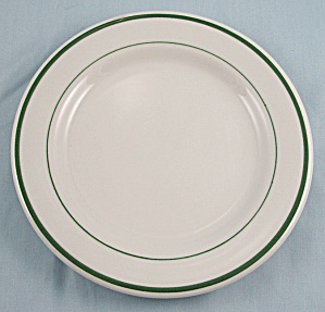 Buffalo China – Bread & Butter Plate, Green Stripes - Restaurant Ware (Image1)