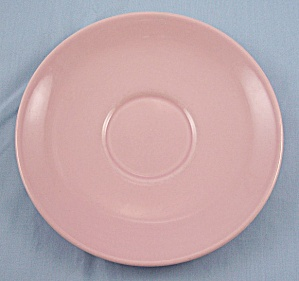 TAYLOR SMTH & TAYLOR- LuRay / Lu-Ray Pastel Saucer- Pink	 (Image1)