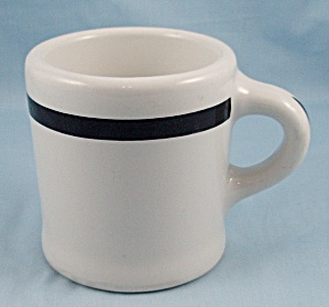 Mayer China - Heavyweight Shaving Mug, Black Stripe