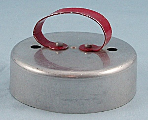 Aluminum - Pastry/ Doughnut / Biscuit Cutter � Red Metal Handle	 (Image1)