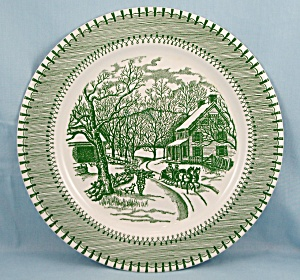 Knowles China – Country Life, Currier & Ives Print – Green	 (Image1)