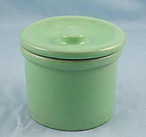 Small Green Crock With Lid
