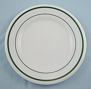Corning Pyrex Tableware - Bread & Butter Plate - Green Bands