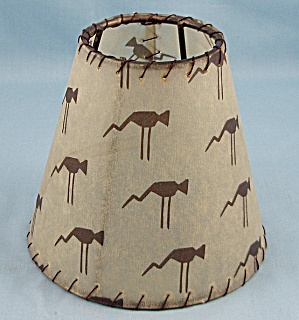 Tiny Lamp Shade – Unique Brown Pattern	 (Image1)