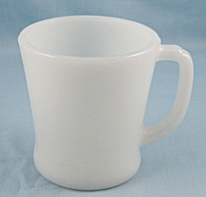 Fire King Mug - White D Handle