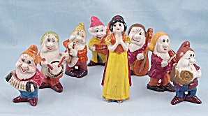 1938 Walt Disney Bisque Snow White and the Seven Musical Dwarfs Band by Borgfeldt	 (Image1)