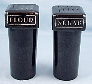 Vintage Sugar And Flour Shakers