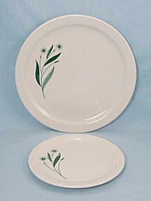 Homer Laughlin – Dinner & Bread & Butter Plates - Green Field - Restaurant Ware (Image1)