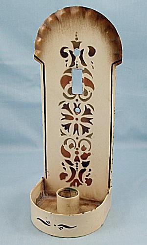 Souvenir - Tin Candle Holder – Connecticut House, Riverton, Conn. (Image1)