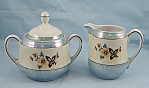 Bavaria � Luster Ware � Cream Pitcher and Covered Sugar Bowl (Image1)