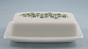 Pyrex 72 B – Spring Blossom Green – Butter Dish (Image1)