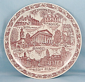 Vernon Kilns – Collector/ Souvenir Plate- Virginia (Image1)