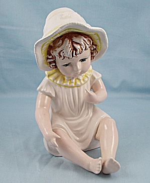 Porcelain Piano Baby / Sitting Girl