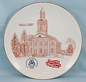 1993 - Masonic Home - Utica, New York - Memorial Chapel - Collector Plate