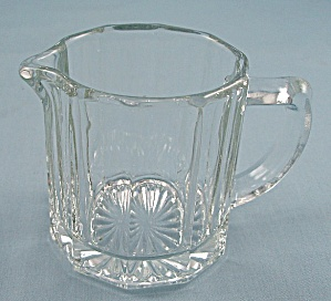 Indiana Glass Pattern # 165,  Mini Creamer, Peerless Colonial (Image1)