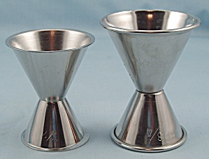 Two - Stainless Steel – Double Jiggers (Image1)