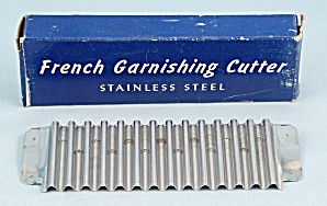 French Garnishing Cutter / Original Box / Stainless Steel