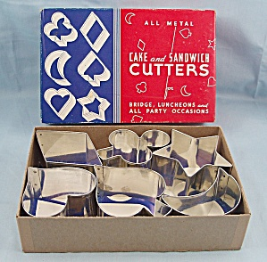 Assorted Vintage Card Party � Six, Cookie, Cake & Sandwich Cutters � B, Original Box (Image1)
