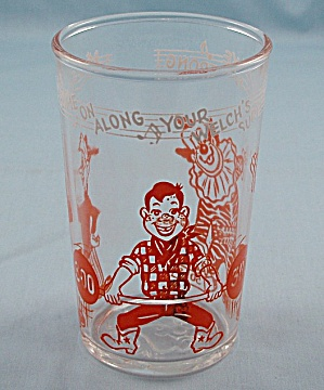 1953 Welch's Howdy Doody / Clarabell Tumbler