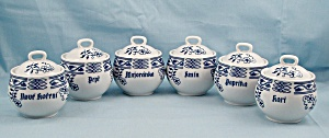 Blue Onion Spice Set - Bohemia - Czechoslovakia