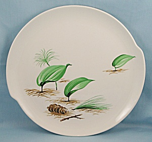 W. S. George � Green Leaves, Pine Cone	- Dinner Plate (Image1)