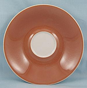 Iroquois � Rust & White Saucer- Impromptu (Image1)