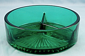 Emerald Green Divided Bowl