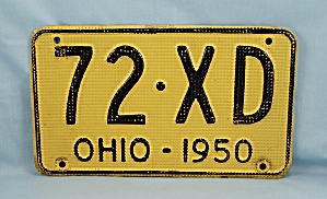 1950 License Plate � Ohio (Image1)