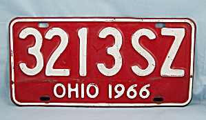 1966 � Ohio License Plate (Image1)