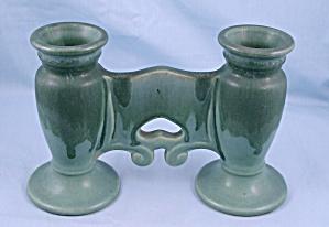 Roseville Carnelian I Double Bud Vase, 56-5 (Image1)